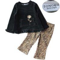 Organic cotton girl dress, skirt set, baby apparel wholesale