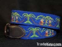 Mans Needlepoint belt