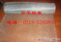 Gas-liquid knitted filter mesh, knitted filter mesh