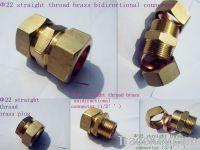 Straight thread brass connector