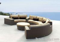 comfortable outdoor rattan sofa