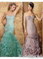 2012 Sweetheart Elegant Beaded Sequins Prom Dresses