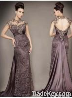 Sexy Beaded Lace Bateau Evening Dresses