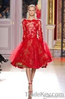 Zuhair Murad Lace Tulle Long Sleeve Prom Dress