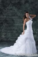2013 One Shoulder Flowers Ball Gown Wedding Dress