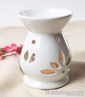 Elegant White Ceramic Essential Oil Burner