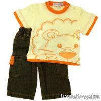 Baby boy clothing suit, children short summer suit