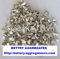 silver coated glass aggregate
