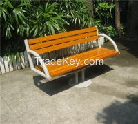 Hot sale outdoor wooden bench solid wood bench seating street furniture