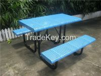 Outdoor table with bench picnic table and bench