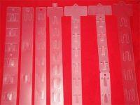 Plastic hanging strips