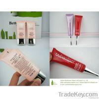 oval plastic tube for  skin care cream with aluminum screw cap