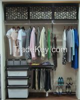 Collapsible wardrobe diy closet system