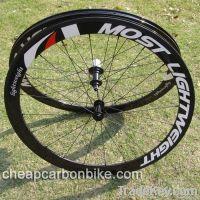 Most Light Weight, 700C 50mm Tubular Full Carbon Fiber Bicycle Wheelset