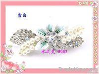 Fashion / alloy hair accessories hair clips / full diamond pearl flowe