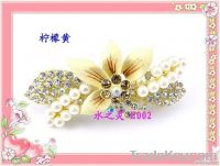 Fashion / alloy hair accessories hair clips / full diamond pearl flowe