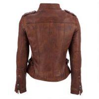 Motorbike Leather Racing Jacket, Genuine Leather