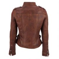 Women Leather Motorbike Jackets, Genuine Cow Hide Leather