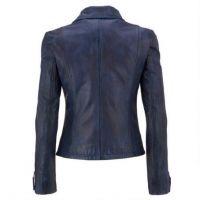 New Women's Black Fashion Motorcycle Original Leather Slim fit Jacket