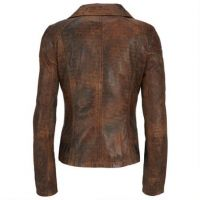 Leather motorbike Jacket/Women Leather Jacket/Motorcycle Jacket