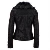 new product gray genuine sheepskin suede womens motorcycle leather jacket