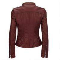 high quality fashion slim fit motorcycle sheep skin custom plain black genuine