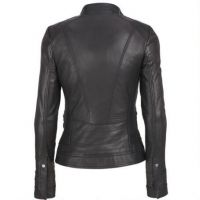 2017 Wholesale Pu Leather High Quality Women leather motorcycle jacket