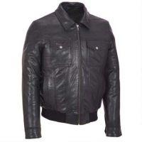 winter fashion men black varsity pu leather jacket with hood