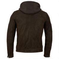 mens long sleeve winter pu leather jacker with hood wholesale