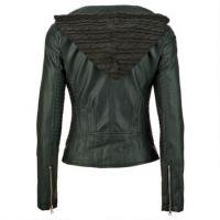 Women Leather Jacket with Stylish Hood