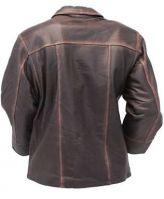 Men's Vintage Brown Long  Leather Jacket coat