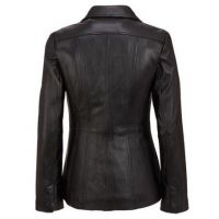 Best Prices attractive style women long leather coat for wholesale