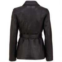 Women Fashion Leather Patchwork Long Sleeve Winter Trench Coats