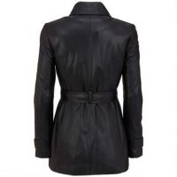 Modern style excellent quality real fur coat ostrich real fox fur leather jacket