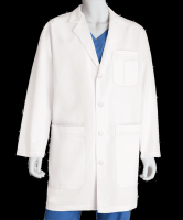 Good protective latex free disposable medical acid resistant lab coat