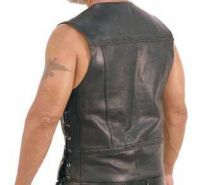 motorcycle riding vest leather
