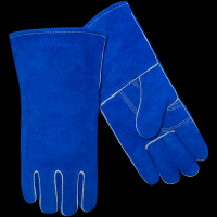 safety hand leather stick welding gloves