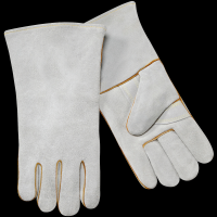 safety leather glove for man