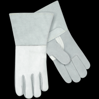 Heavily-insulated long-cuff stick welding glove