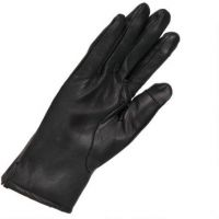 navy blue leather gloves