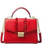 new red leather hand bag