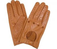 2018 new brwon driving leather gloves