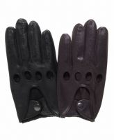 2018 black  driving leather gloves