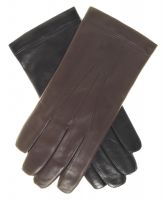 2018 black and white driving leather gloves