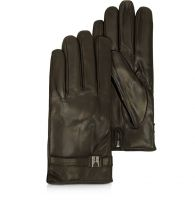 2018 new black driving leather gloves