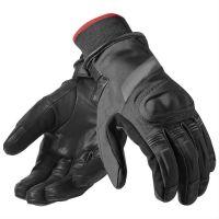 2018  black  leather bike gloves
