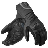 2018 new pure   black leather gloves motorbike