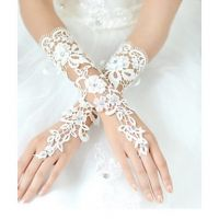 Most Popular Simple Bridal Lace Wedding Gloves