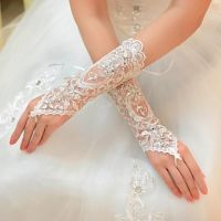 Simple Lace Bridal Gloves Wedding Gloves