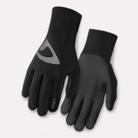full black size  leather cycling gloves